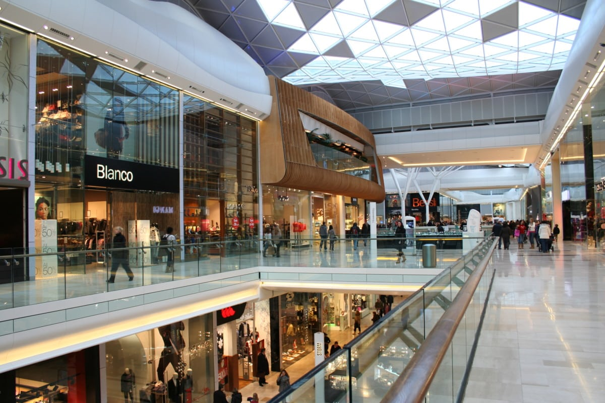 modern shopping mall with people during day