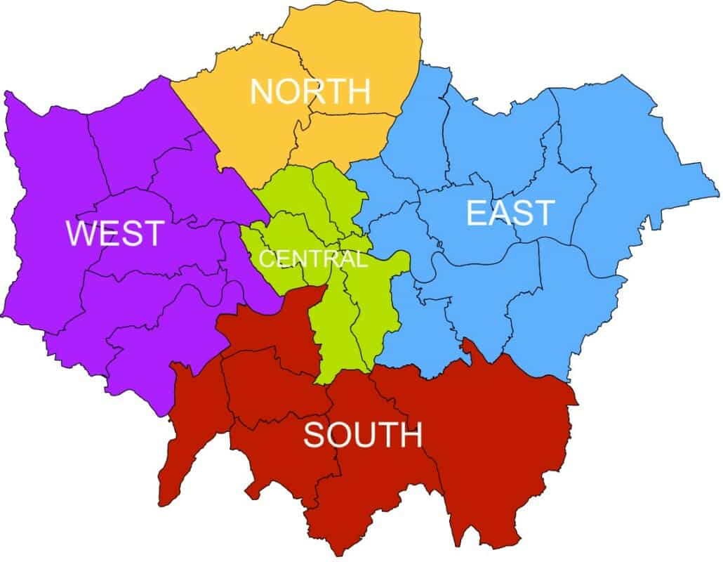 """London's sub-regions from 2011"""