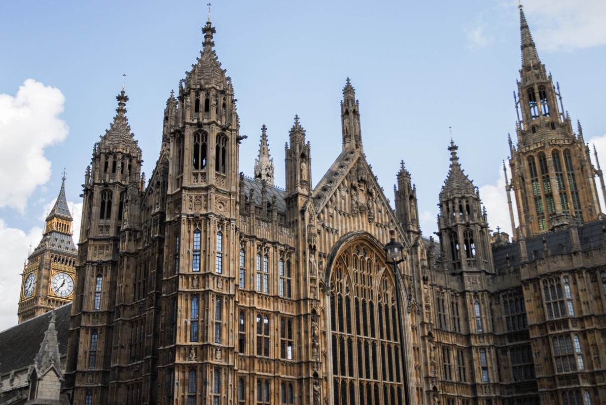 """""""Palace of Westminster with Gothic Architecture"""""""