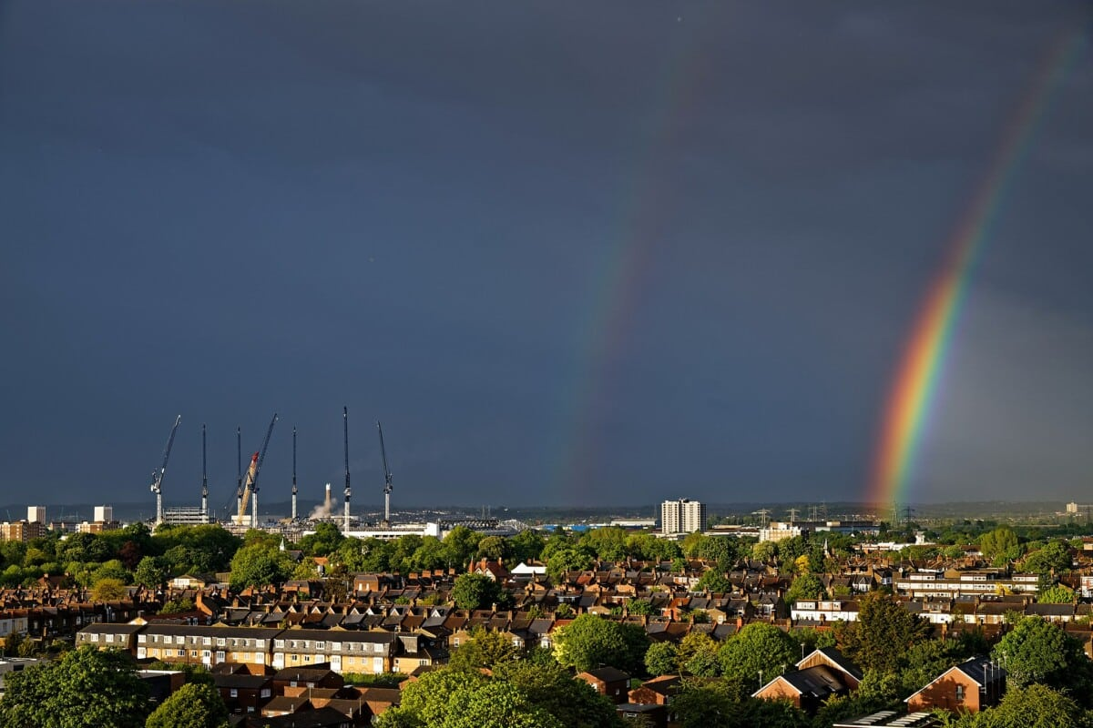 """""""North London's view with the rainbow"""""""